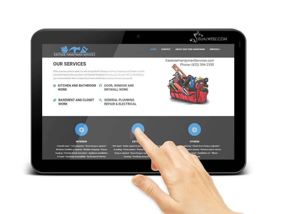Seattle Web Design - Bellevue Handyman Website Design Tablet