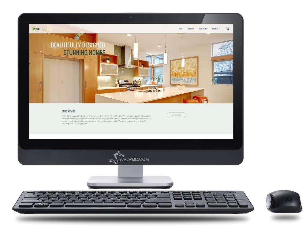 Seattle Web Design - DEP-Homes-WordPress-Website-Design