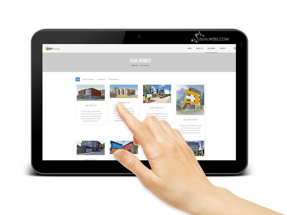 Seattle Web Design -DEP-Homes-WordPress-Website-Design-tab