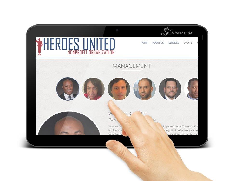 Seattle Web Design - e-commerce-heros-united-website-tab