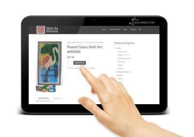 Seattle Web Design - e-commerce-website-development-sharona-tab