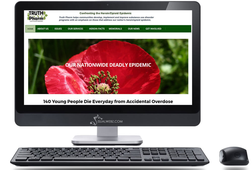 Non profit web design – Truth Pharm