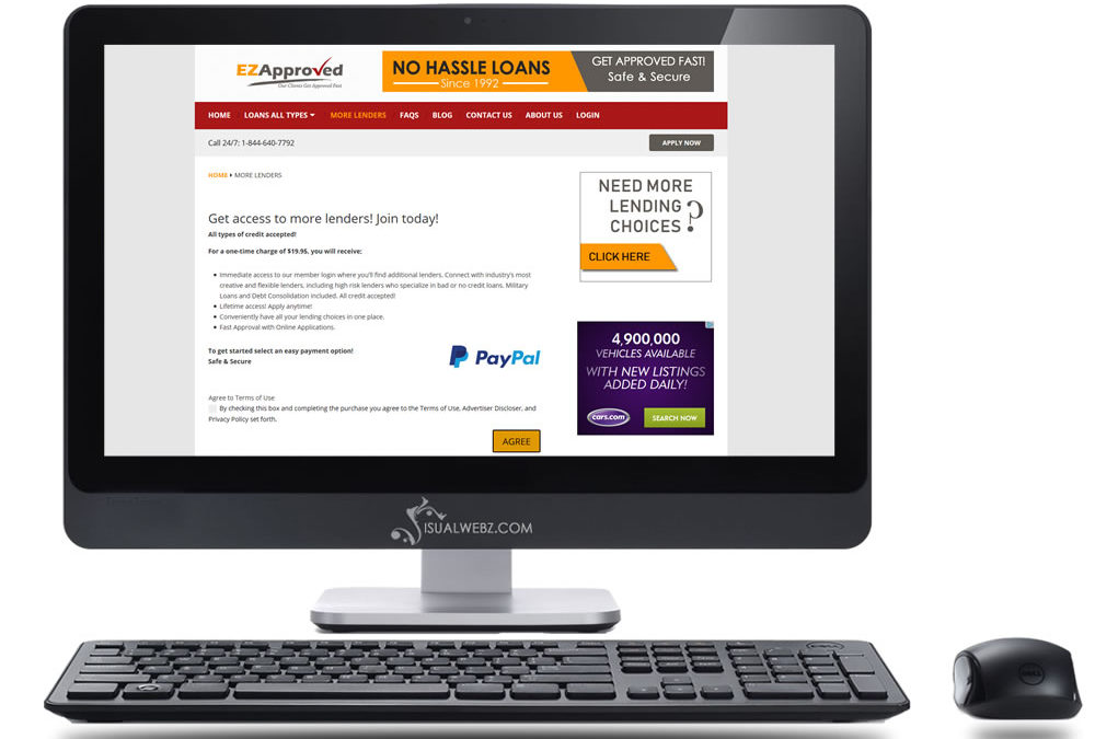 Website Ads Project – EZApproved.com