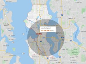 local Seattle Web Design Agency Map