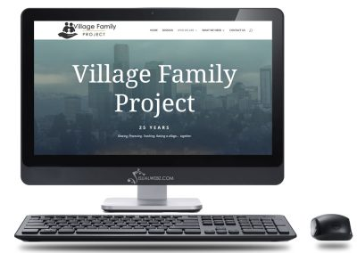 Seattle Web Design for Village Family Project.