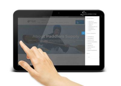 Distributor Web Design Tablet